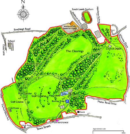 Map of Middleton Park